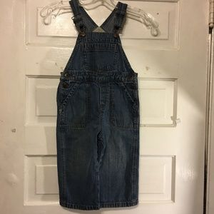 Oshkosh B'gosh Denim Overall Sz 2 Toddler EUC!!
